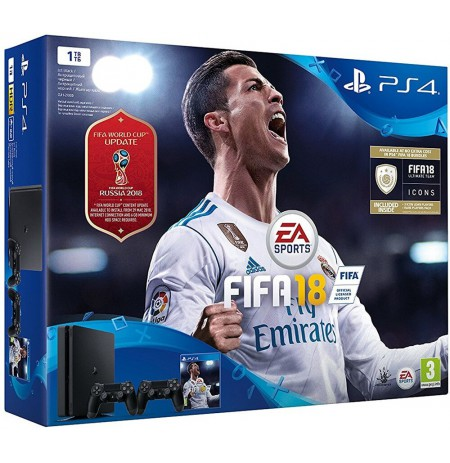 Sony PlayStation 4 Slim 1TB - FIFA 18 Dualshock Bundle