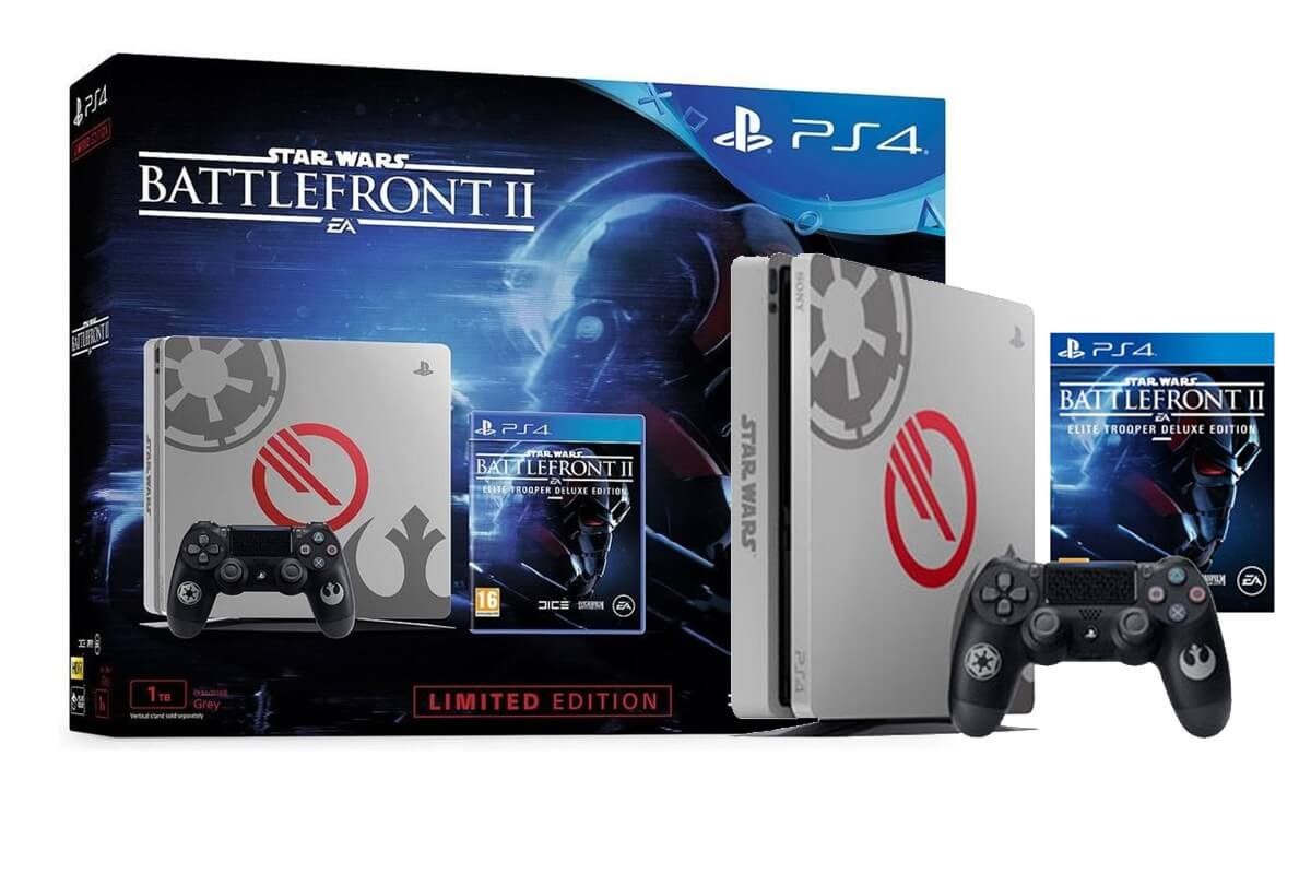 Žaidimų konsolė SONY PlayStation 4 (PS4) Slim 1TB - Star Wars Battlefront II Elite Trooper Deluxe Edition