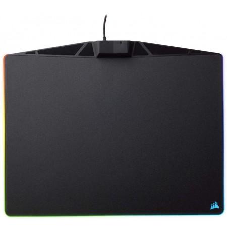 Corsair MM800 RGB POLARIS Juodas Pelės Kilimėlis   350x260x5mm, Medžiaginė versija