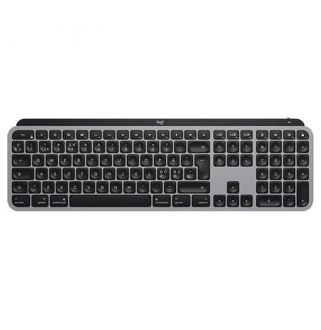 Logitech MX Keys membraninė belaidė klaviatūra su apšvietimu (Space Grey) | Mac (DEU Layout)