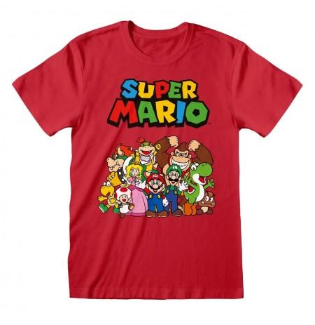 Nintendo Super Mario - Main Character Group T-Shirt | Large