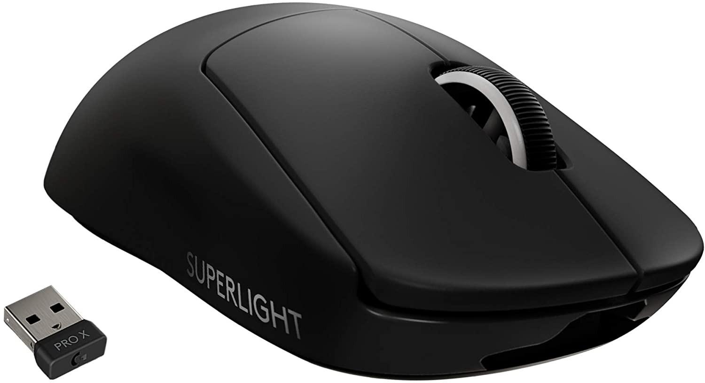 Logitech G PRO X SUPERLIGHT juoda belaidė pelė   25 600 DPI
