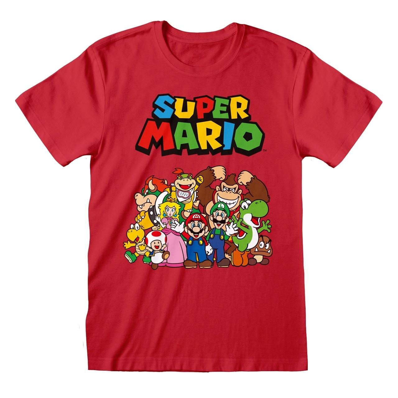 Nintendo Super Mario - Main Character Group marškinėliai | M Dydis