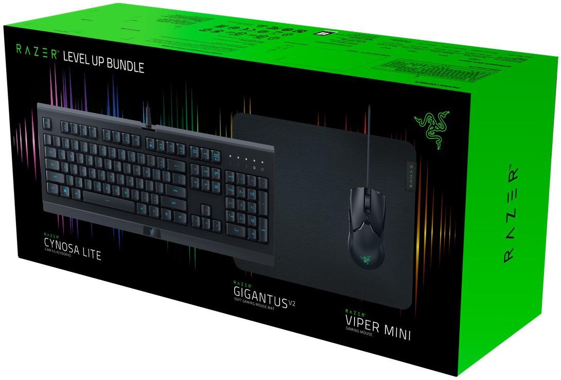 Razer Level Up - klaviatūros, pelės ir pelės kilimėlio rinkinys
