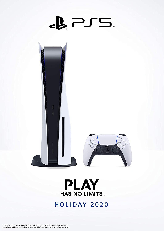 PlayStation 5 žaidimų konsolė 825GB (PS5) BUNDLE (Papildomas valdiklis + 2 žaidimai +Kroviklis)
