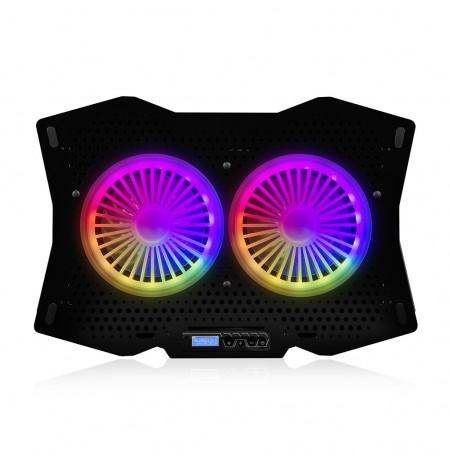 Modecom MC-CF18 RGB Nešiojamo Kompiterio Aušintuvas