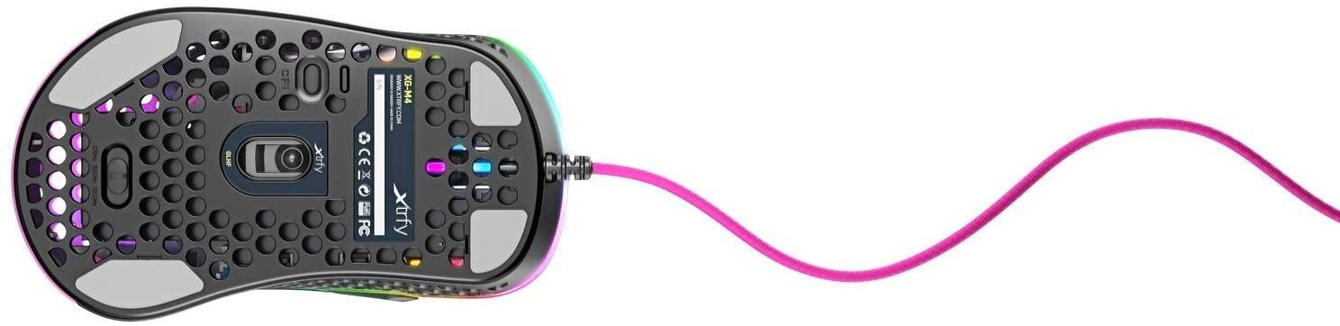 Xtrfy M4 Rausva Optinė Laidinė Pelė | 16000 CPI