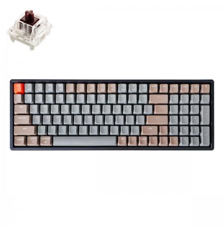 Keychron K4 Mechanical 96% Keyboard  (V2, wireless, RGB, Hot-swap, US, Gateron Brown)