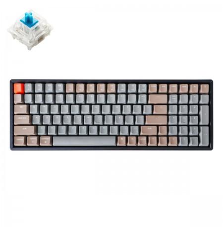 Keychron K4 mechaninė 96% klaviatūra (V2, bevielė, RGB, Hot-swap, US, Gateron Blue)