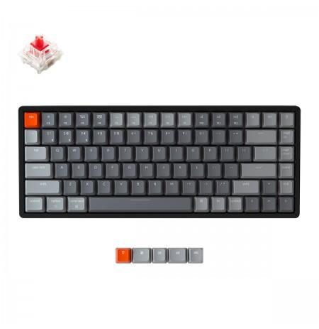 Keychron K2 mechaninė 75% klaviatūra (belaidė, RGB, US, Gateron Red)