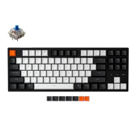 Keychron C1 mechaninė 80% klaviatūra (laidinė, RGB, Hot-swap, US, Gateron Blue)