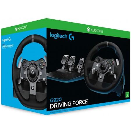 Logitech G920 Driving Force Racing Wheel (Xbox One PC) (pažeista pakuotė)
