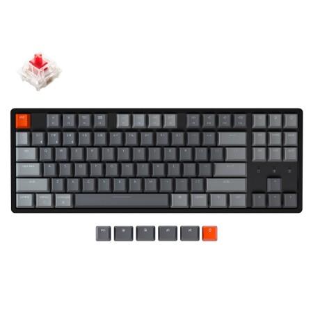 Keychron K8 mechaninė 80% klaviatūra (belaidė, RGB, Hot-swap, US, Gateron Red)
