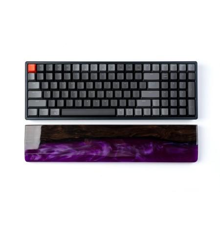 Keychron klaviatūros K4 riešo atrama - rudo medžio + epoksidinės dervos | 379 x 80 x 15mm