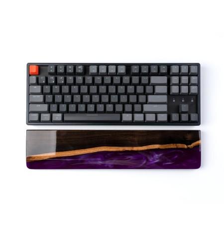 Keychron klaviatūros K8/C1 riešo atrama - rudo medžio + epoksidinės dervos | 358 x 80 x 15mm
