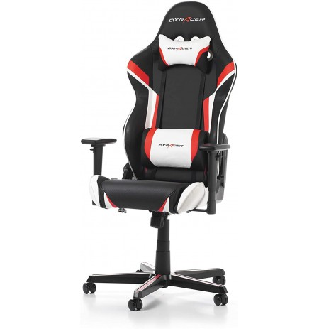 DXRACER RACING SERIES R0-NW Black-Red-White GAMING CHAIR