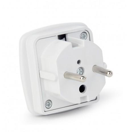 Gembird AC Adapteris UK to EU, 7,5A Baltas