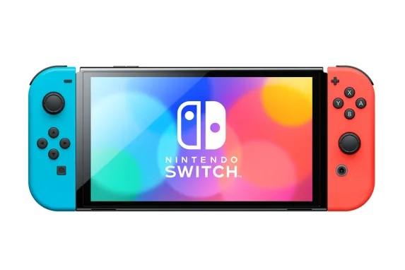 Nintendo Switch OLED konsolė (su Neon Red ir Neon Blue Joy-Con)