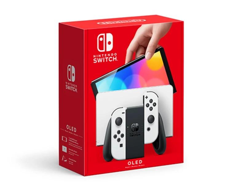 Nintendo Switch OLED konsolė (su baltais Joy-Con)
