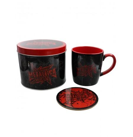 Metallica (Stars And Wings) puodelis ir padėkliukas skardinėje dėžutėje