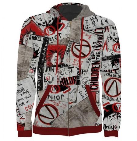 "Borderlands ""Propaganda"" džemperis su užtrauktuku | XXL Dydis"