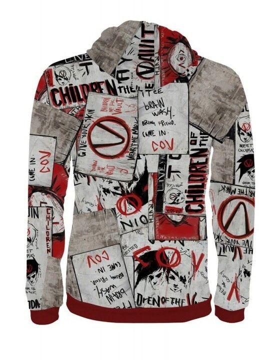 "Borderlands ""Propaganda"" džemperis su užtrauktuku | XL Dydis"