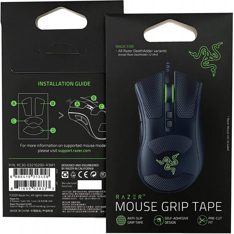 Razer Mouse Grip Tape skirti Razer DeathAdder V2 | Juodi