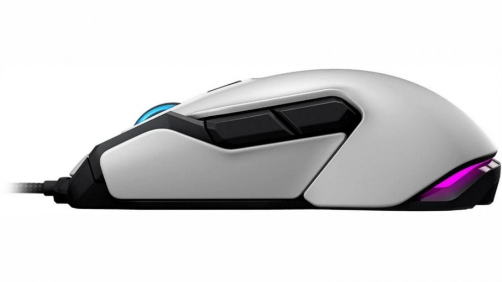 Roccat Kova AIMO balta ambidekstrinė laidinė RGB žaidimų pelė