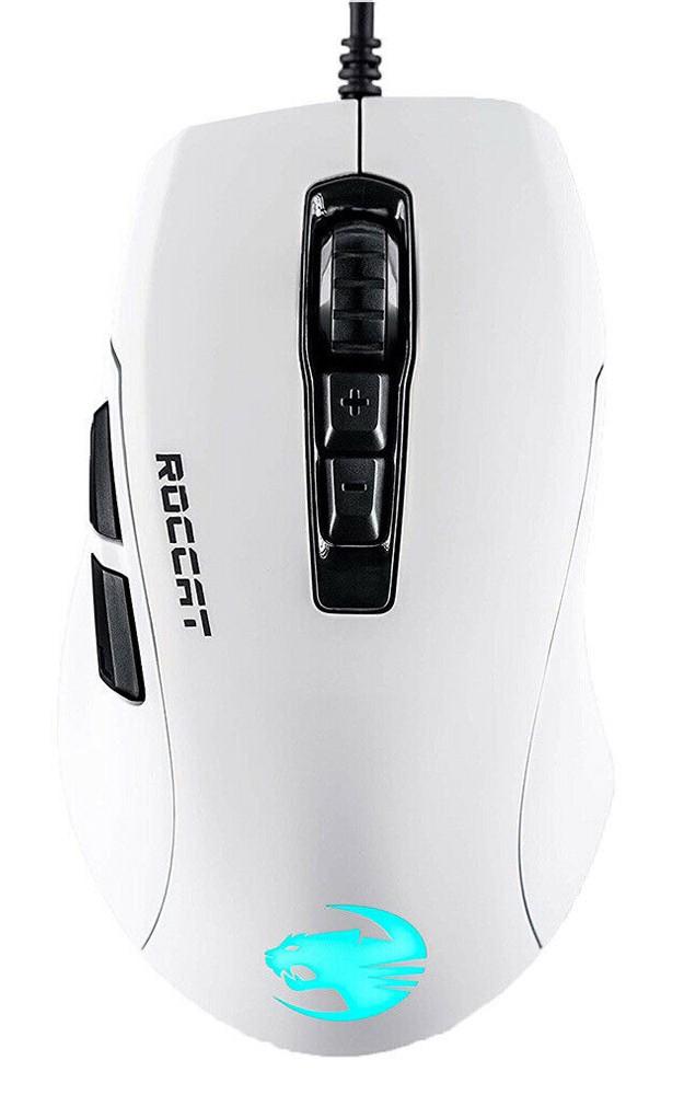 Roccat Kone Pure Ultra AIMO balta laidinė RGB žaidimų pelė