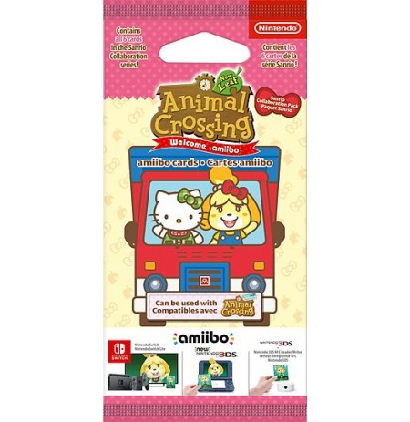 Animal Crossing amiibo Kortelės Serija Sanrio (6vnt)