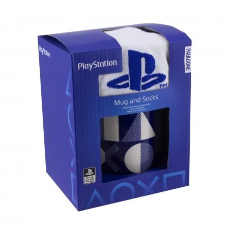 Playstation puodelis ir kojinės dovanų rinkinys