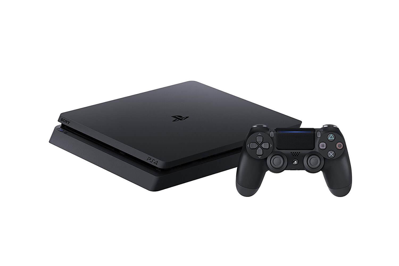 Žaidimų konsolė SONY PlayStation 4 (PS4) Slim 1TB - Juoda + 3 PlayStation Hits (Uncharted 4, The Last of Us, Ratchet & Clank)