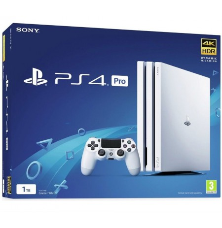 Žaidimų konsolė SONY PlayStation 4 (PS4) Pro 1TB (balta) PS4
