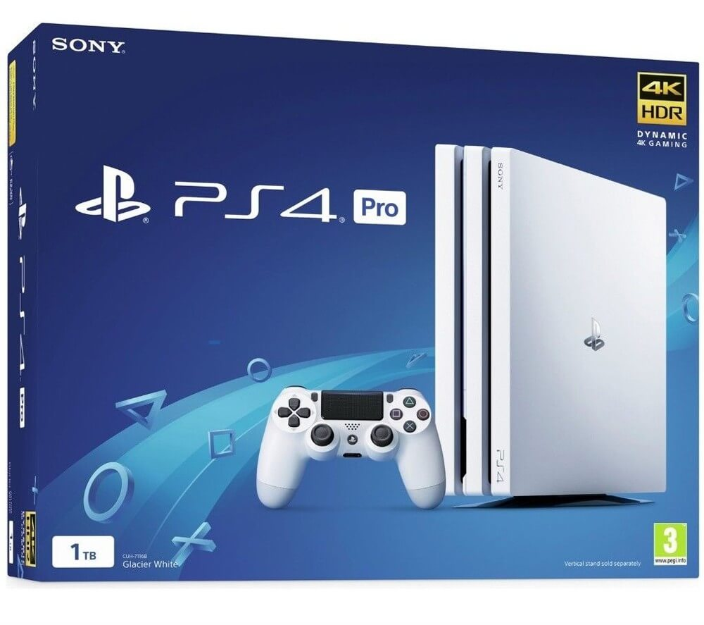 Žaidimų konsolė SONY PlayStation 4 (PS4) Pro 1TB (balta) PS4
