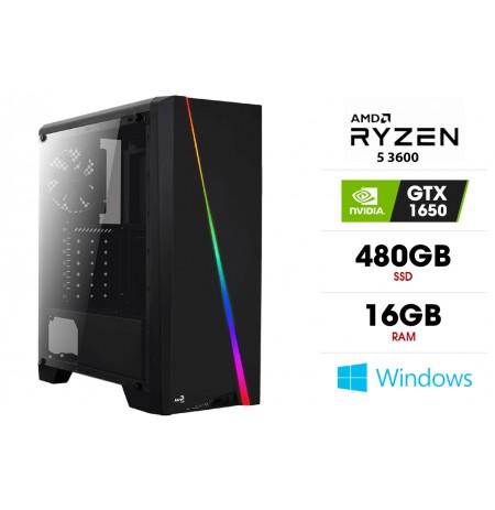 Stacionarus kompiuteris | AMD Ryzen 5 3600, 16GB 3200MHz, SSD 480GB, GTX 1650