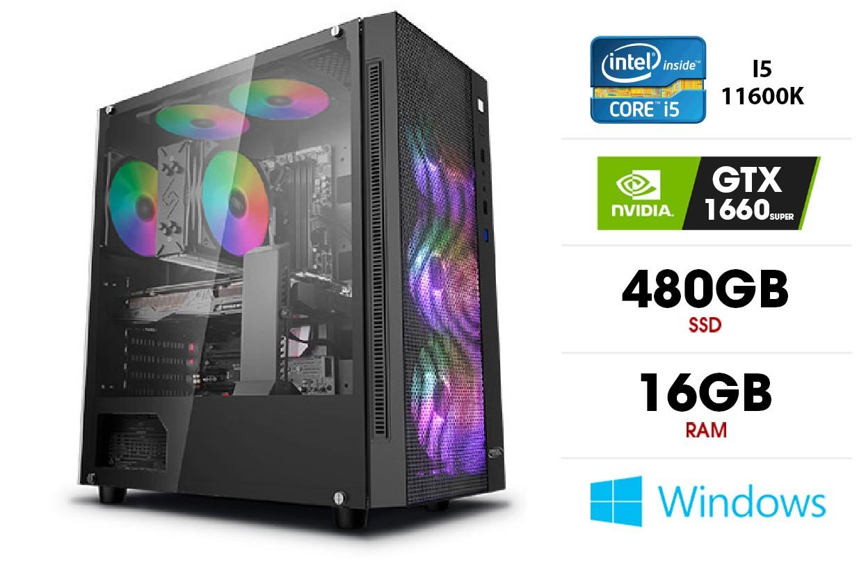 Stacionarus kompiuteris | Intel Core i5-11600K, 16GB 3200MHz, SSD 480GB, GTX 1660 Super