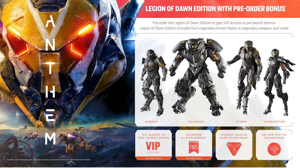 Anthem Legion of Dawn Edition