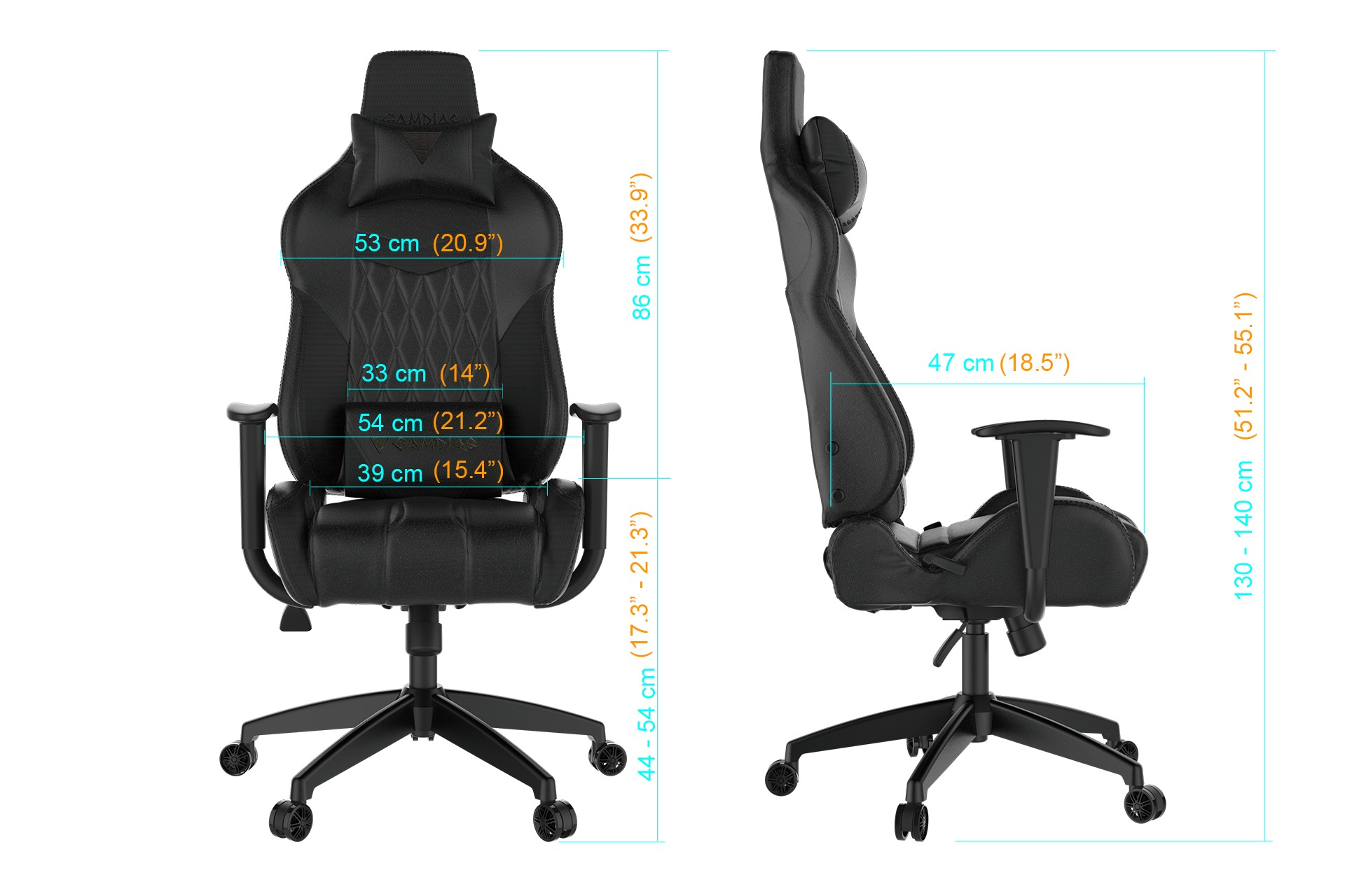 GAMING CHAIR GAMDIAS Achilles E2-L - (black/red)