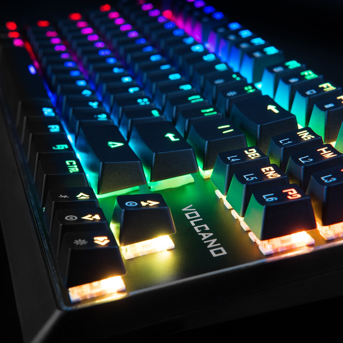 MODECOM VOLCANO LANPARTY RGB GAMING KEYBOARD BROWN US