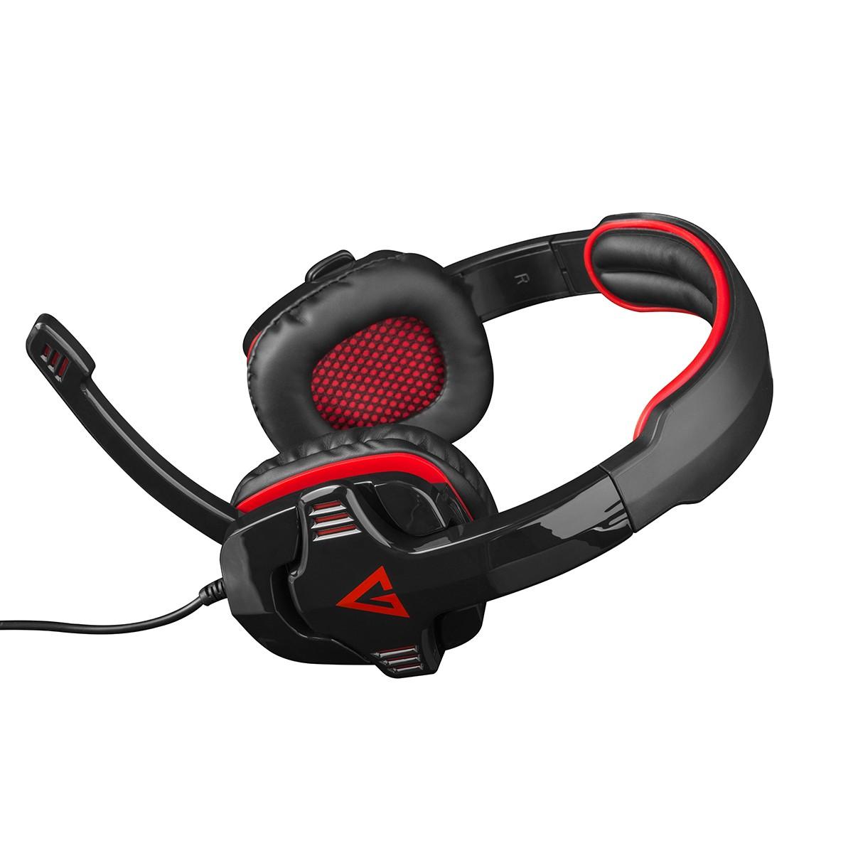 MODECOM ALIEN MC-829 raudonos laidinės žaidimų ausinės