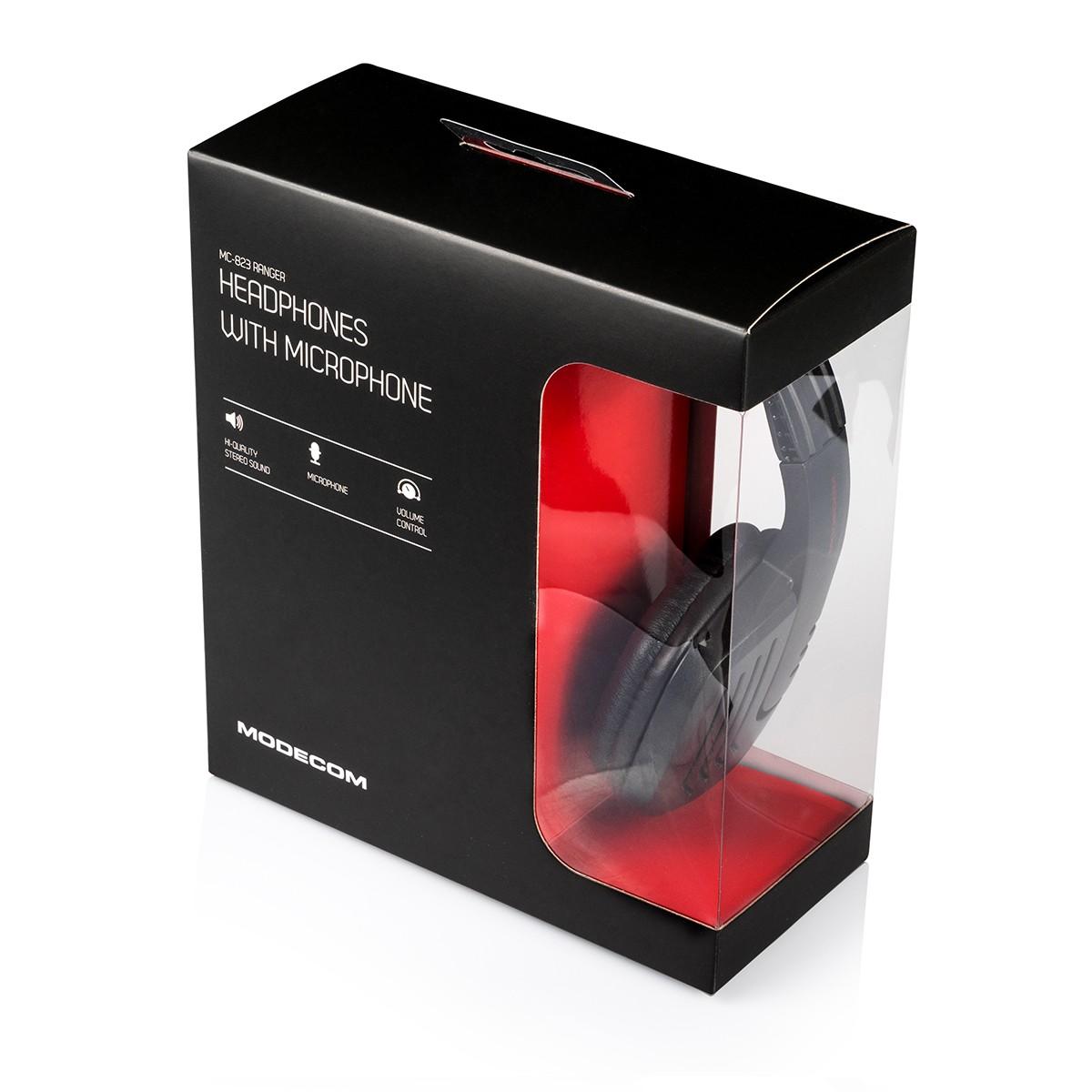 MODECOM RANGER MC-823 Black/Red gamers headphones