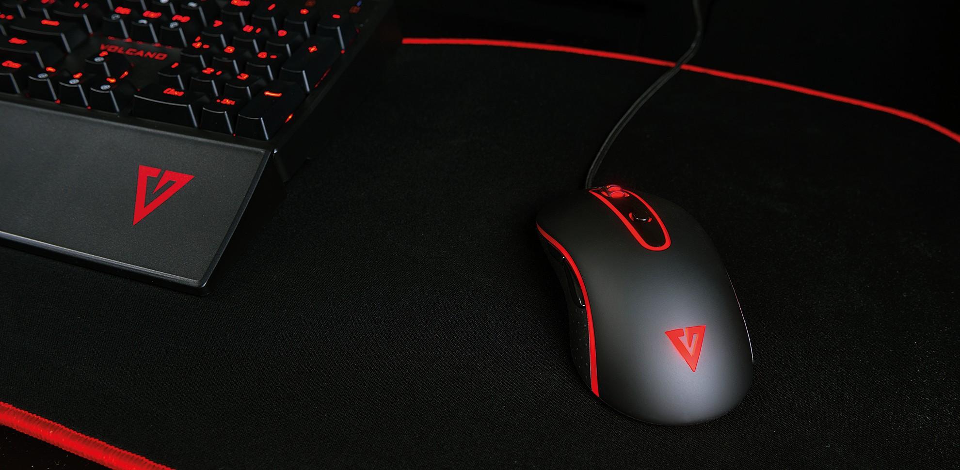 MODECOM Volcano MC-GMX2 juoda laidinė žaidimų optinė pelė RGB | 7200 DPI