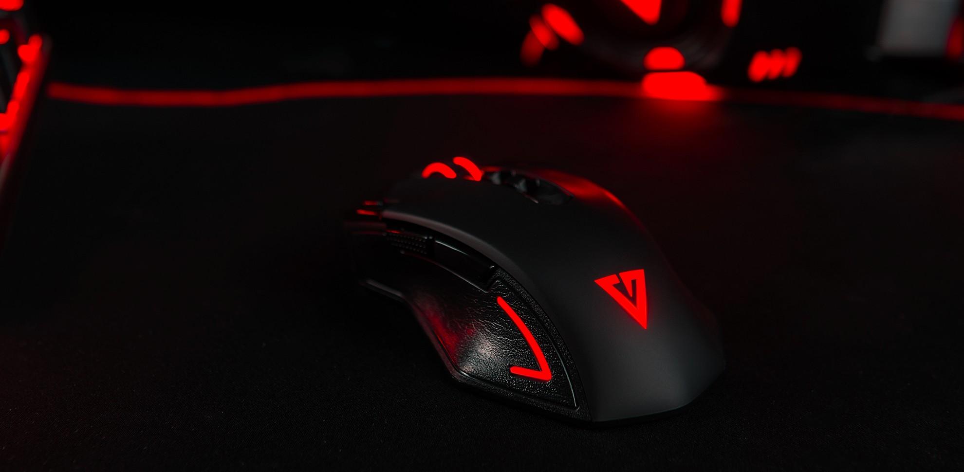 MODECOM Volcano MC-GMX3 juoda laidinė žaidimų optinė pelė RGB | 4000 DPI