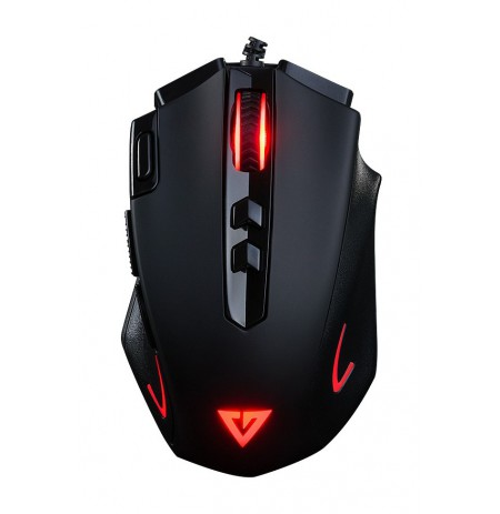 MODECOM Volcano MC-GMX3 black wired optical mouse RGB | 4000 DPI