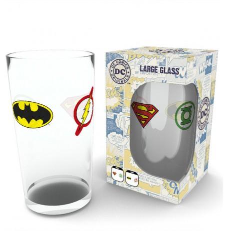 DC COMICS Iconic Logos stiklinė