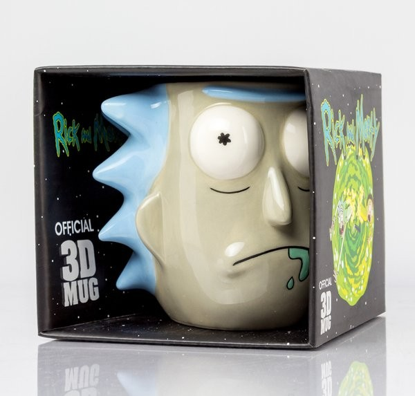 RICK AND MORTY Rick Sanchez 3D puodukas