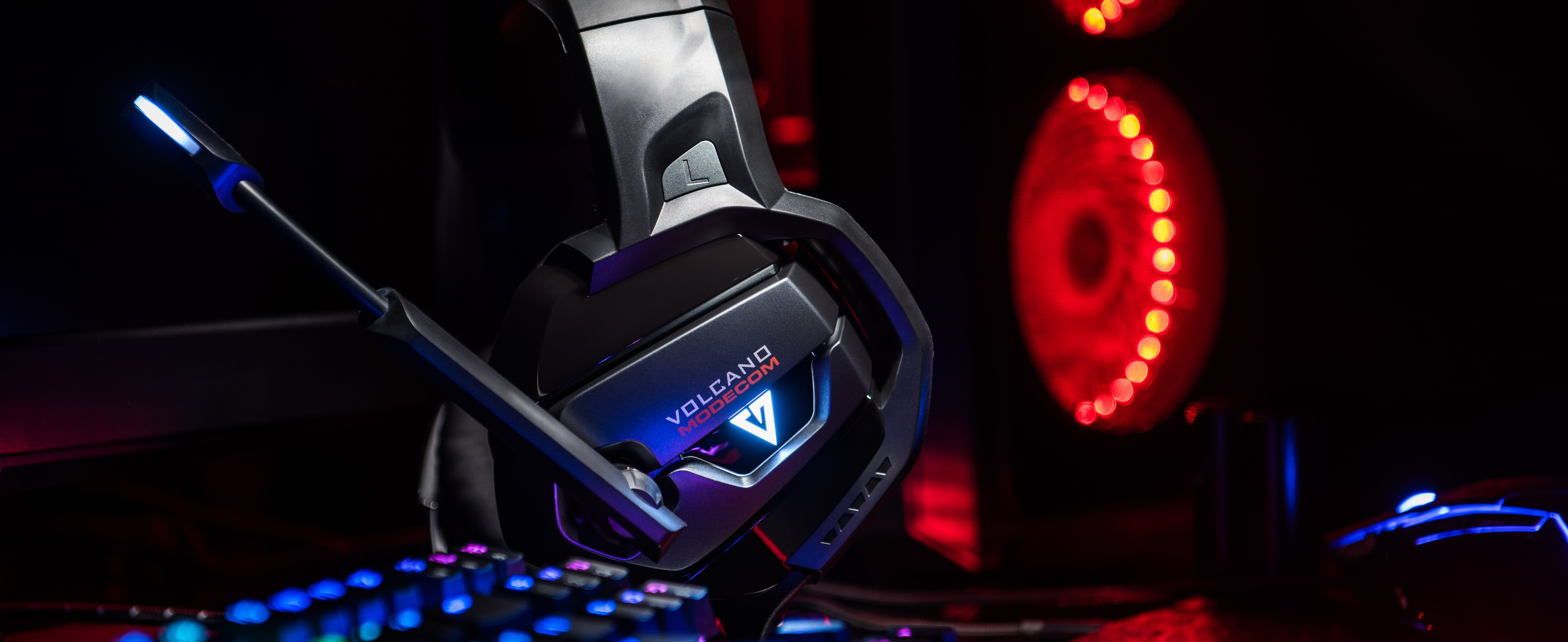 MODECOM VOLCANO MC-859 BOW žaidimų ausinės su mikrofonu