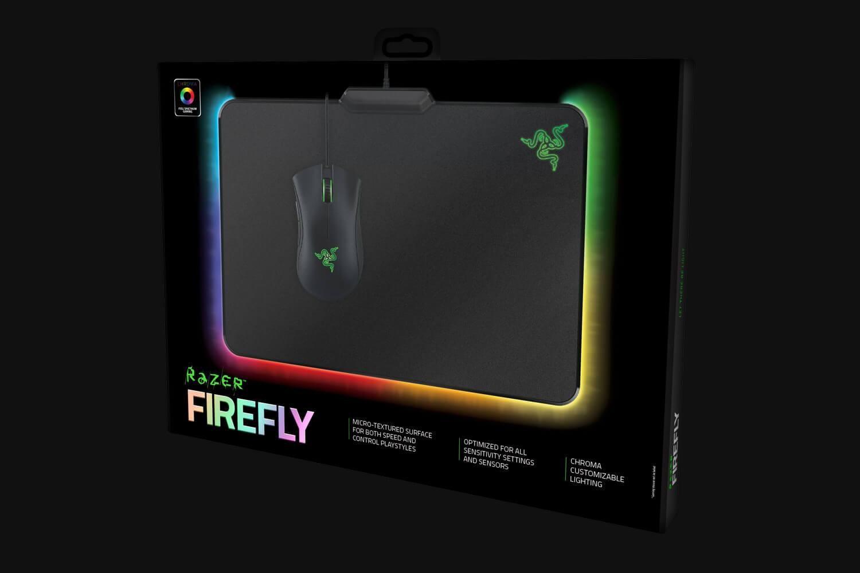RAZER Firefly Hard Edition 355x255x4mm šviečiantis pelės kilimėlis