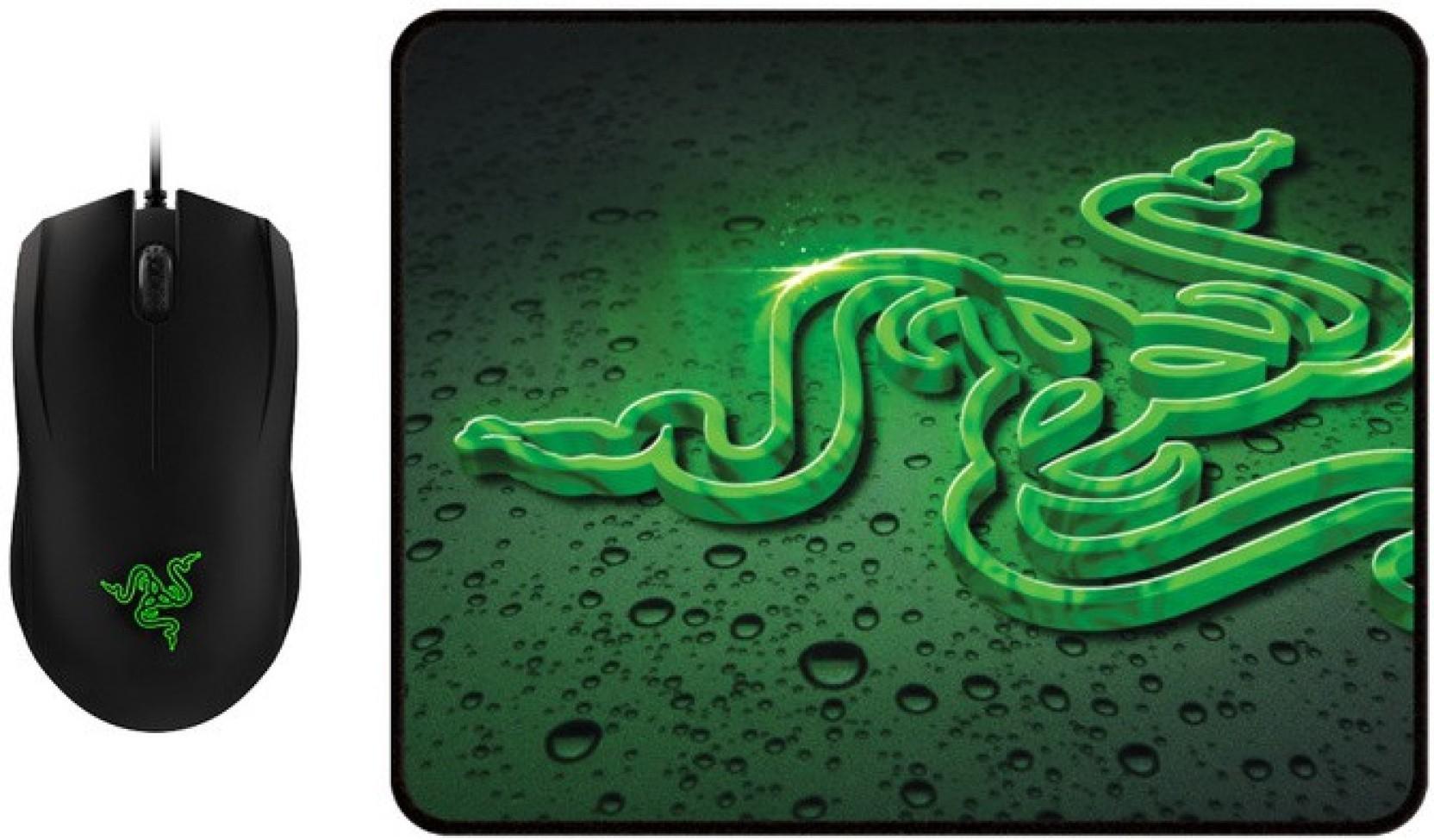 RAZER Abyssus 2000 laidinė optinė žaidimų pelė | 2000 DPI + Goliathus Speed Terra žaidimų kilimėlis 254mm