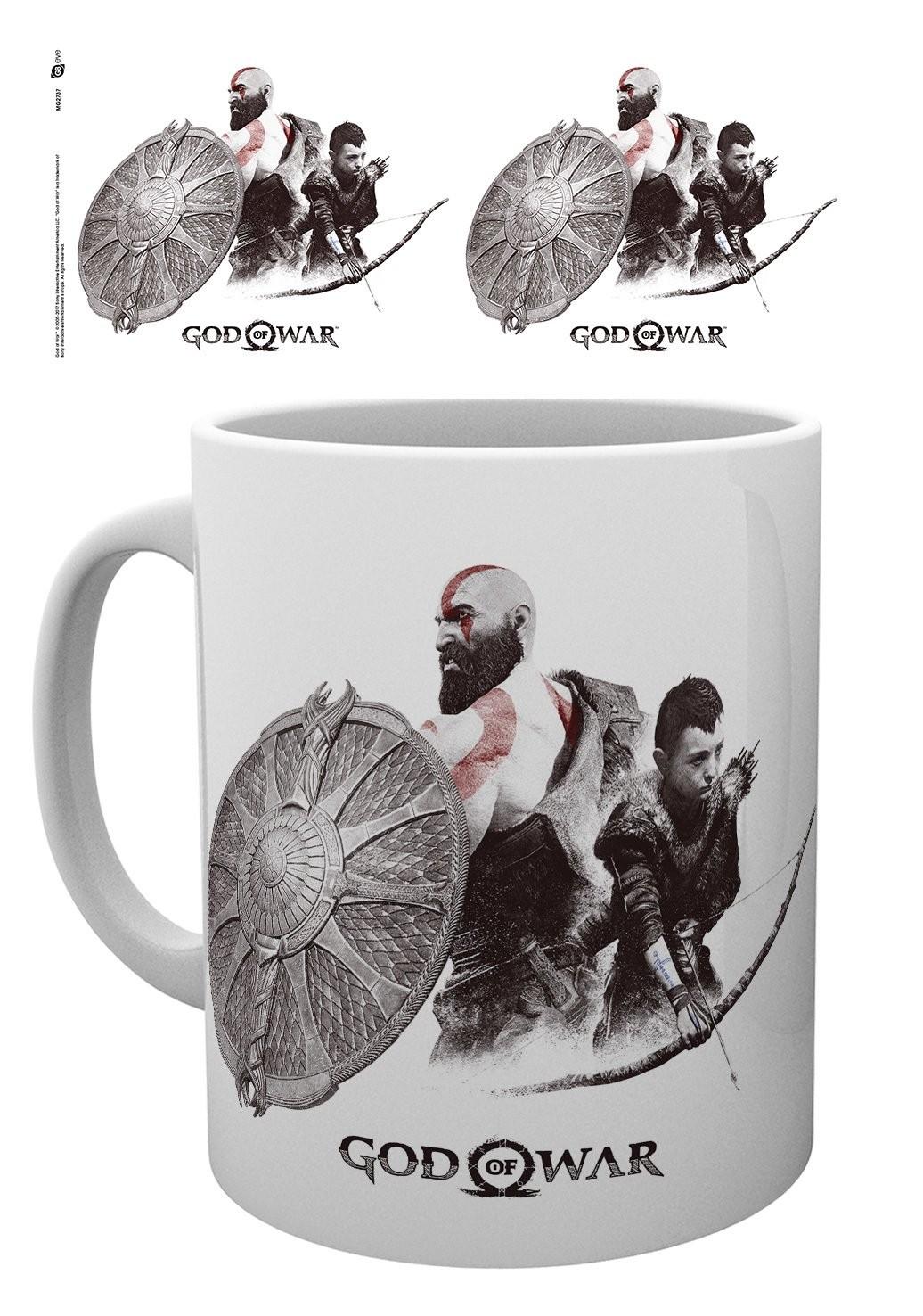 GOD OF WAR Kratos and Atreus puodukas